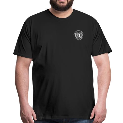 wit borst - Mannen Premium T-shirt