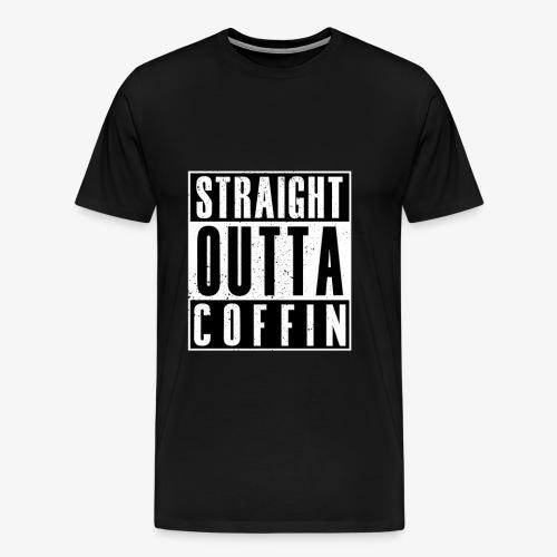 Straight Outta Coffin - Premium-T-shirt herr