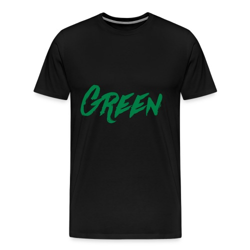 green-scritta-verde - Maglietta Premium da uomo