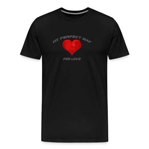 Mein Herzblatt finden - Männer Premium T-Shirt