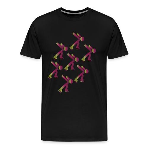 Eisläufer in einer Gruppe, toller Farbverlauf - Männer Premium T-Shirt
