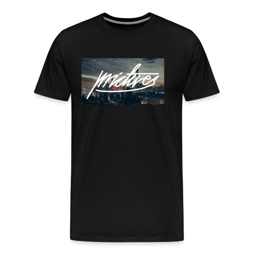 Skyline at night logo large - Männer Premium T-Shirt