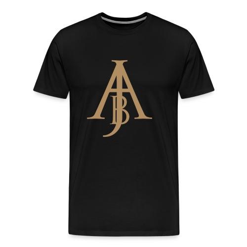 Monogram Guld - Premium-T-shirt herr