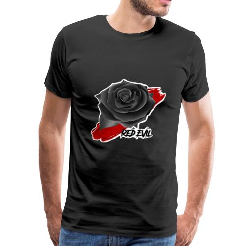 RED EVIL ROSE IN BLOOD - T-shirt Premium Homme