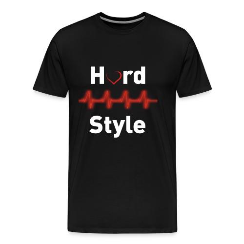 Hardstyle Heartbeat - Männer Premium T-Shirt