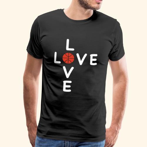 LOVE Cross basketball red 001 - Männer Premium T-Shirt