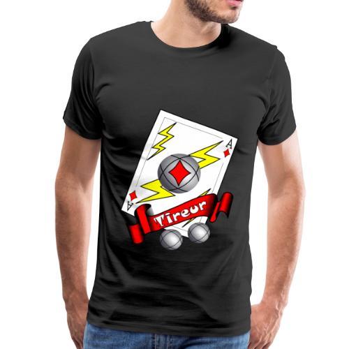 t shirt petanque tireur as du carreau boules - T-shirt Premium Homme