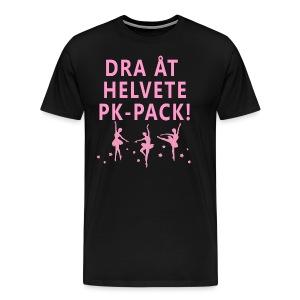 DRA ÅT HELVETE PK-PACK! Tygväska - Premium-T-shirt herr