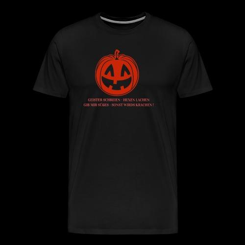Halloween Spruch Promotion - Männer Premium T-Shirt