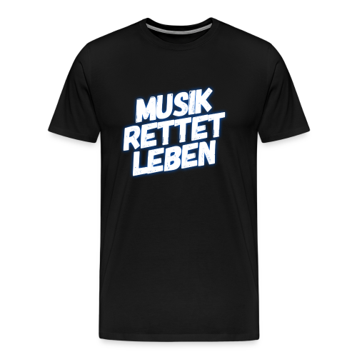 MUSIK RETTET LEBEN LOGO BLAU - Männer Premium T-Shirt