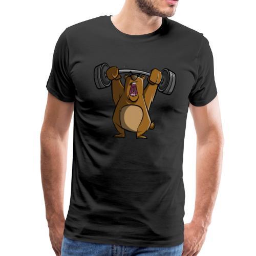 Gym Bär beim Gewichtheben - Männer Premium T-Shirt