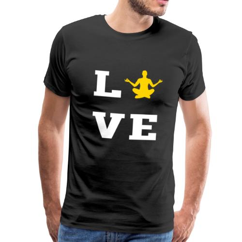 LOVE Yoga - Meditation, Meditieren, Entspannen - Männer Premium T-Shirt