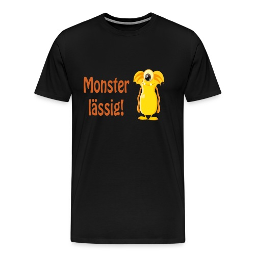 Monster lässig - Sayings Monster Collection - Männer Premium T-Shirt