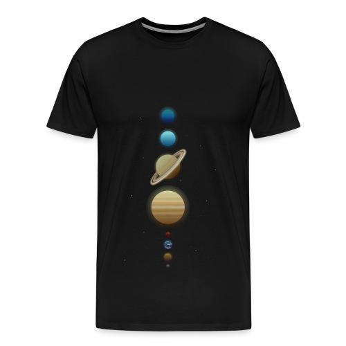 Sonnensystem Weltraum Planeten T-Shirt - Männer Premium T-Shirt