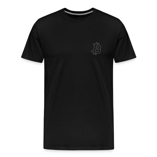 Bitcoin Logo thin small - weiss - Männer Premium T-Shirt