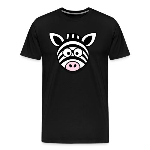 Lustiges Zebra Geschenk Idee Geburtstag - Männer Premium T-Shirt