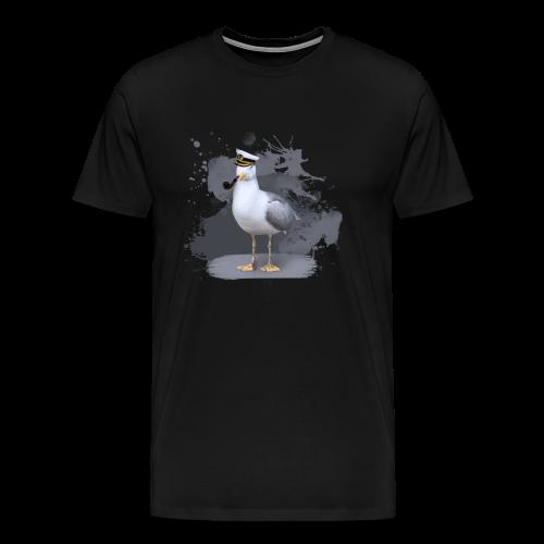 Der coole Seemöwen-Opi - Männer Premium T-Shirt