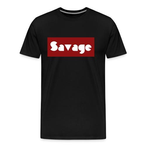 Savage. Stylischer Schriftzug - Männer Premium T-Shirt