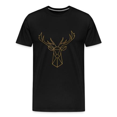 Geometric Deer - Männer Premium T-Shirt