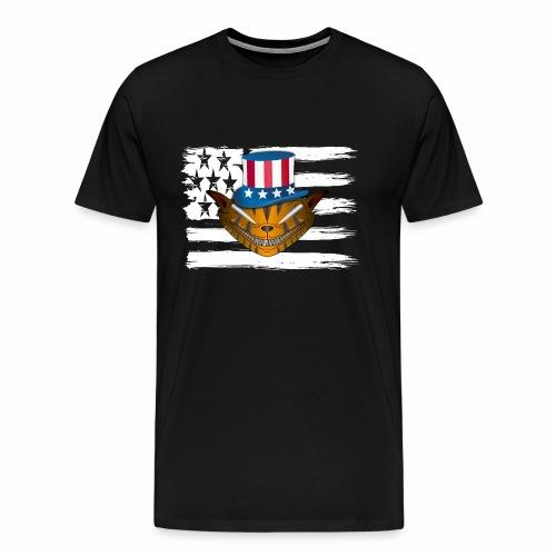 All American Cat Love - Amerikanische Katzen Liebe - Männer Premium T-Shirt