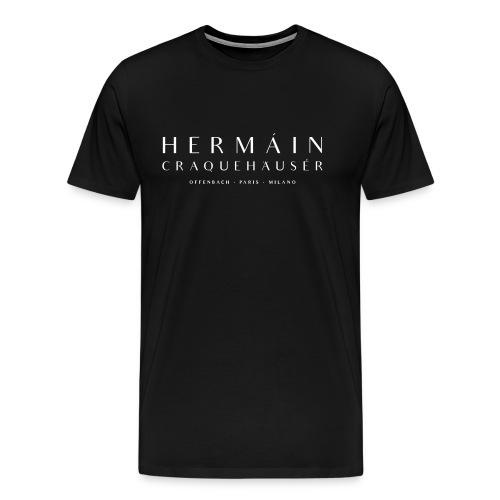 Cocàine white on caviar black - Männer Premium T-Shirt