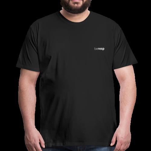 BeResp Classic Line 2 White - T-shirt Premium Homme