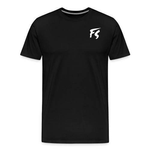 FS Logo wit - Mannen Premium T-shirt