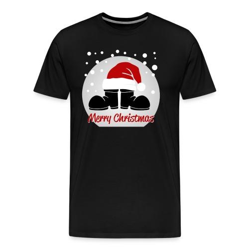 bottes merry christmas - T-shirt Premium Homme