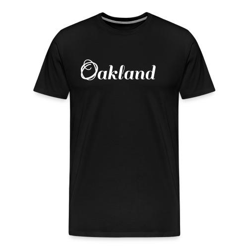 Oakland | Logo | Vit - Premium-T-shirt herr