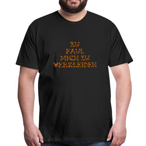 zu faul mich zu verkleiden - Männer Premium T-Shirt