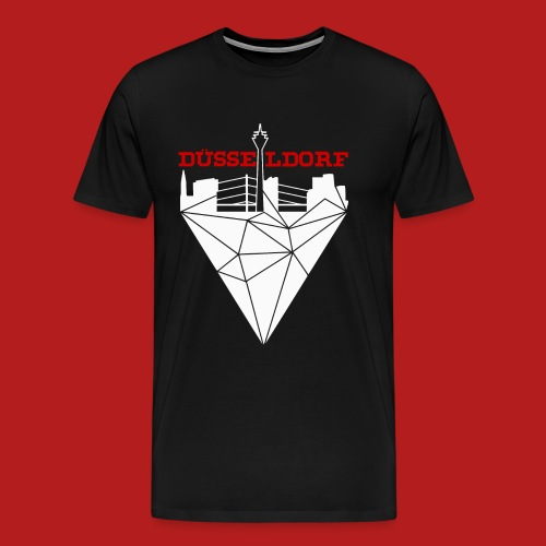 Düsseldorf Diamant - Männer Premium T-Shirt