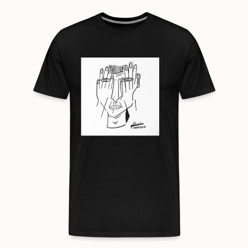 '' Face Cachée '' - T-shirt Premium Homme
