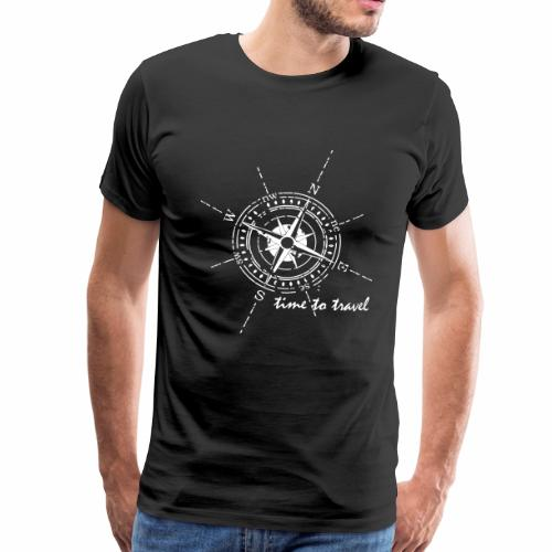 Kompass time to travel weiß - Männer Premium T-Shirt
