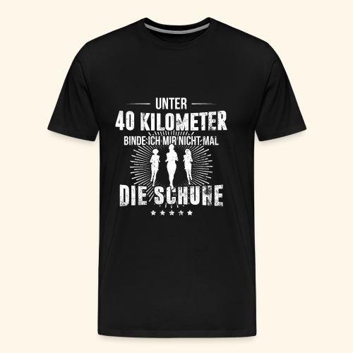 Laufen & Joggen | Unter 40 Kilometer - Männer Premium T-Shirt