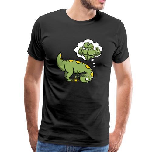 Dino mit Wunderlampe - Männer Premium T-Shirt