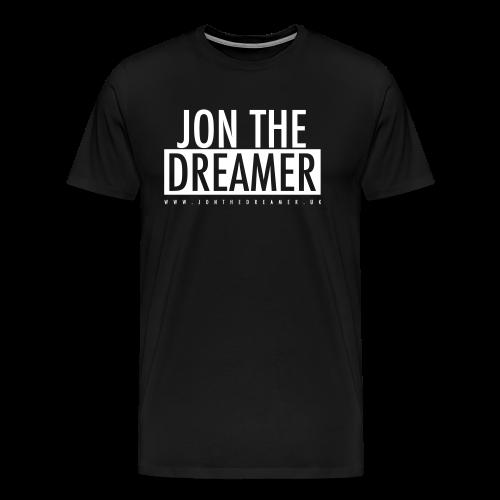 JON THE DREAMER LOGO - BLACK - Men's Premium T-Shirt