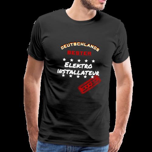Deutschlands Bester Elektroinstallateur Geschenk - Männer Premium T-Shirt