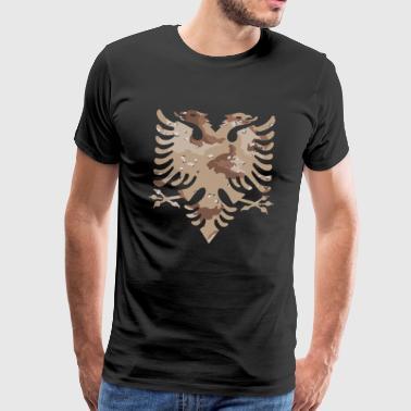 Militär tarnt Wüste albanische Flagge - Männer Premium T-Shirt
