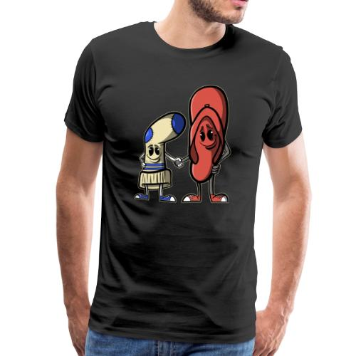BFF - Socke und Flip Flops - Männer Premium T-Shirt