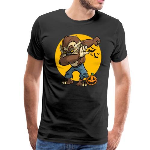 Dabbing Werwolf - Halloween - Männer Premium T-Shirt