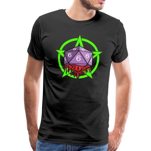 Würfel RPG Spiel Rollenspiele 666 mit Pentagramm - Männer Premium T-Shirt