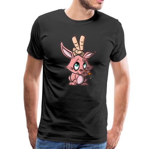 Hase - Finger zeigen Hasenohren - Männer Premium T-Shirt