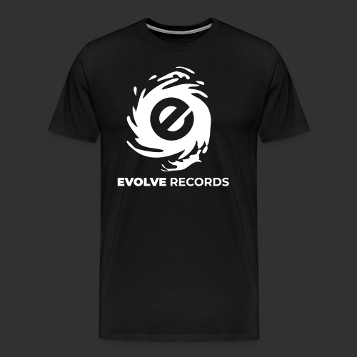EVOLVE RECORDS - WHITE - Men's Premium T-Shirt