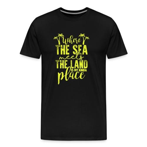 Where The Sea Meets The Land - Urlaub Strand Shirt - Männer Premium T-Shirt