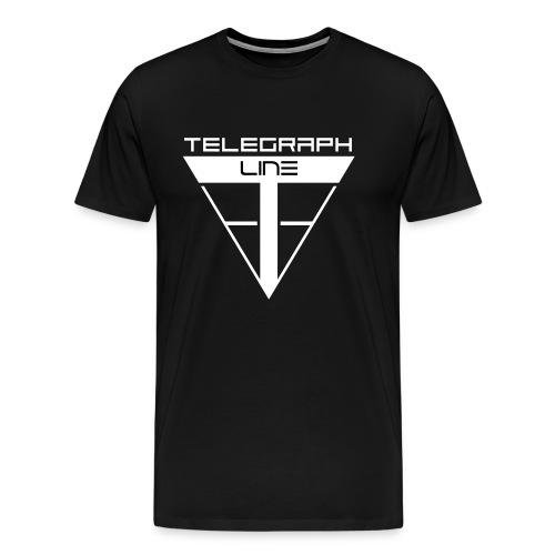 Telegraph Line Logo - Maglietta Premium da uomo