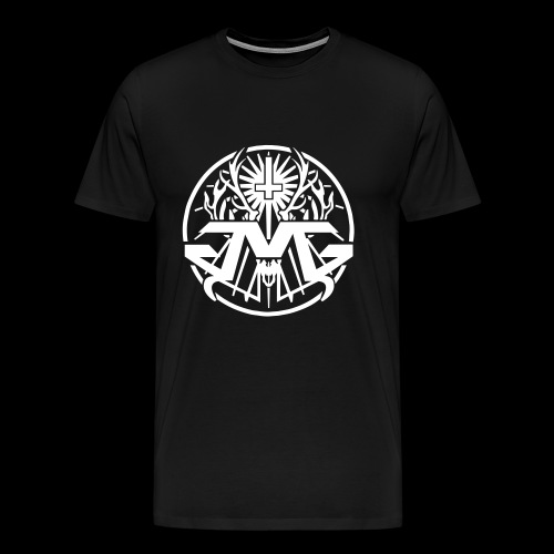 JMG Circle Logo white - Männer Premium T-Shirt