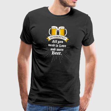 Oktoberfest Olut olutpuutarha olutta kolpakko rakkaus hauskaa - Miesten premium t-paita