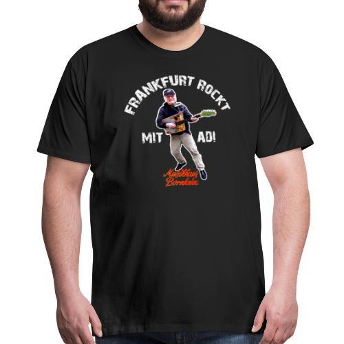 FRANKFURT ROCKT - MIT ADI - Musikhaus Bornheim - Männer Premium T-Shirt