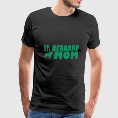 St Bernard Mom - Dog Mom - Premium-T-shirt herr