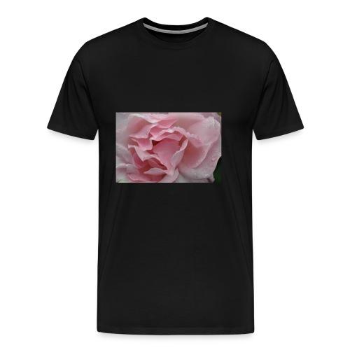 Water Droplet Rose - Men's Premium T-Shirt